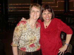 Picture of Patricia with comedian, Judy Carter