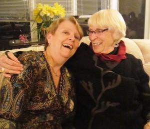 Patricia with Jean Illsley Clarke