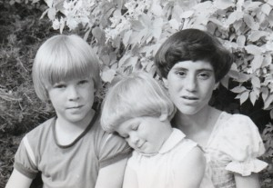 Picture of Patricia Morgan's three children when they were kids