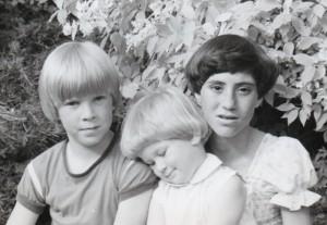 Picture of Patricia Morgan's three children when they were kids