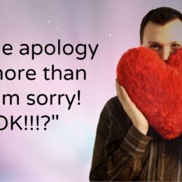 A true apology is more than