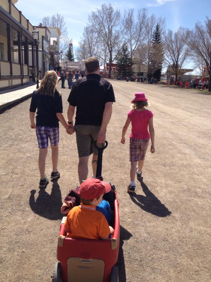 Ben, Chelsea, and kids