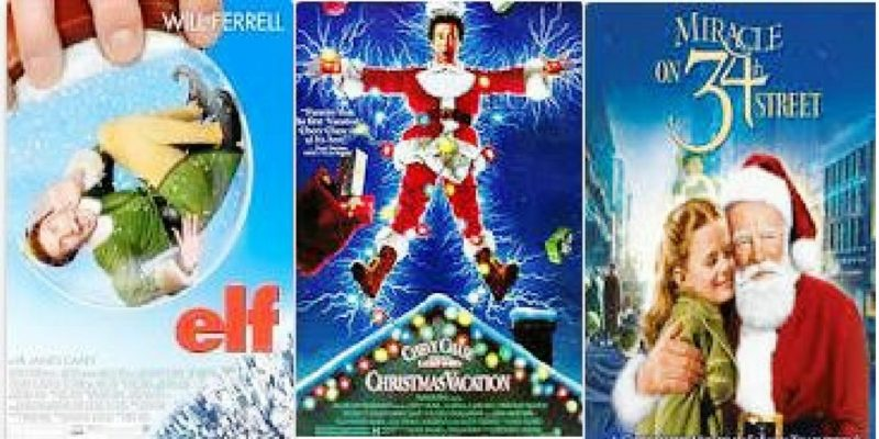 Picture of three Christmas movie posters - Elf, Christmas Vacation and Miracle on 34th Street. What is your favorite Classic Christmas movie?