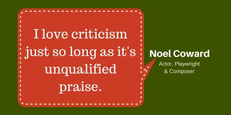 I love criticism
