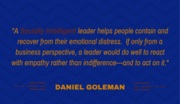 Quote by Daniel Goleman re Socially Intelligent business leaders