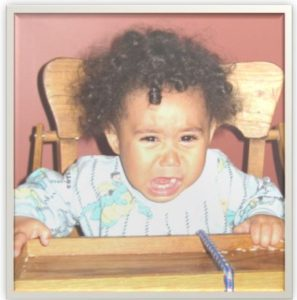 baby feeling angry