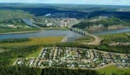 Aerial photograph of the City of Fort McMurray