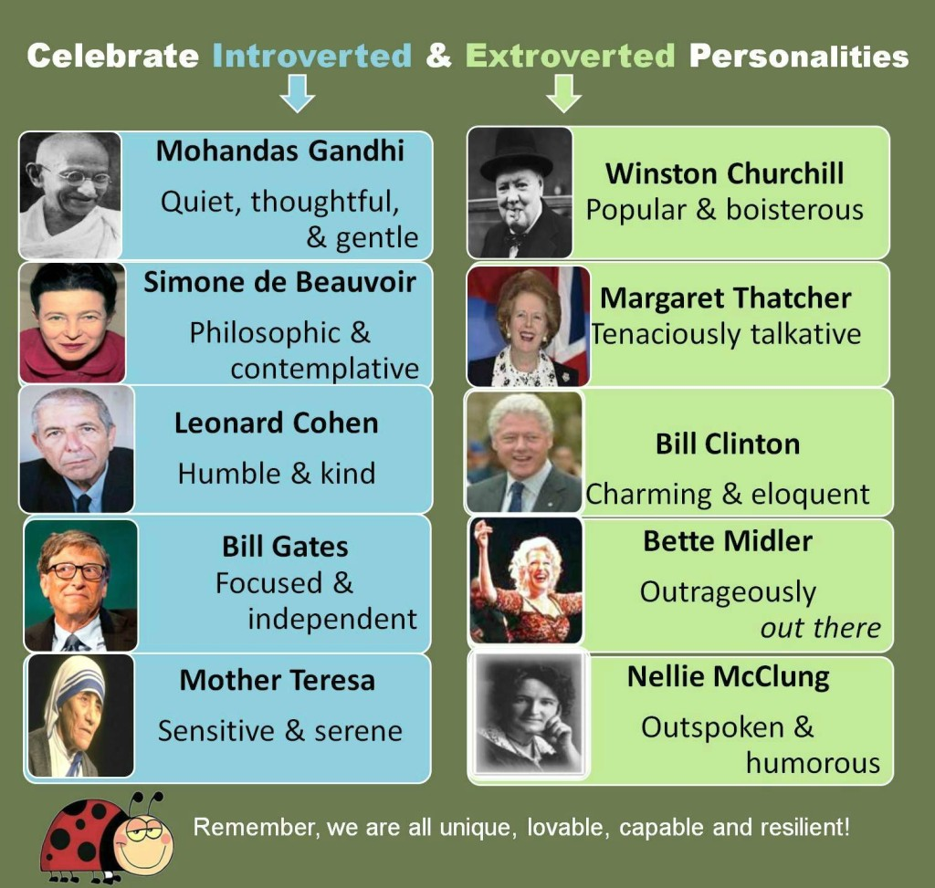 Infograph Introvert - Extrovert