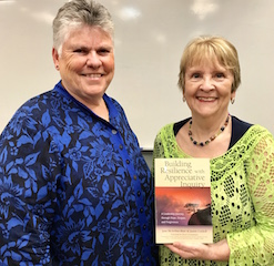 Patricia with Joan McArthur-Blair