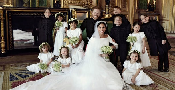 Prince Harry and the Duchess of Sussex with children