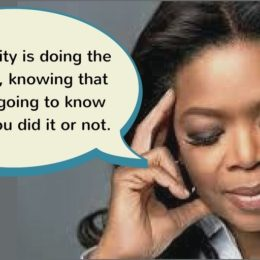 Integrity is . . .