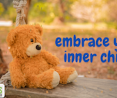 a teddy bear to help embrace your inner child