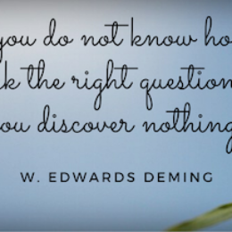 Deming quote re right question